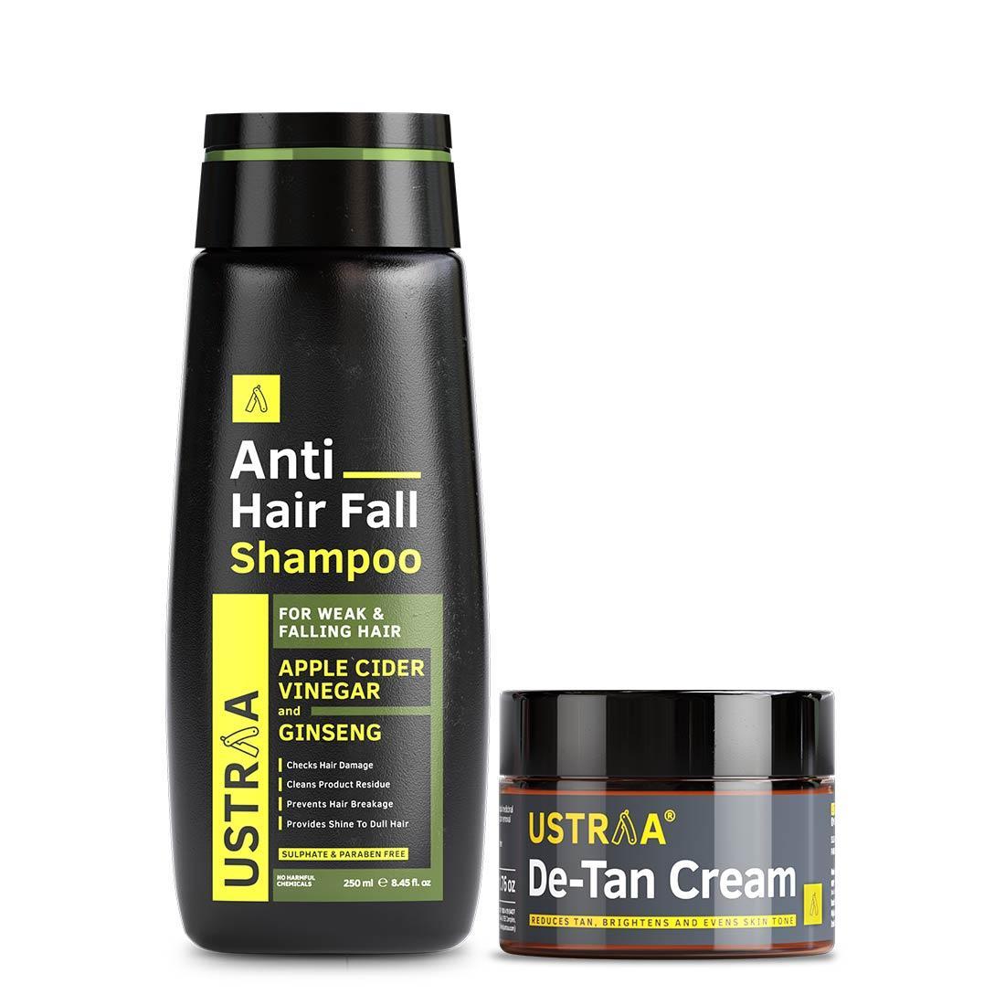De-Tan Cream for Men and Anti-Hairfall Shampoo