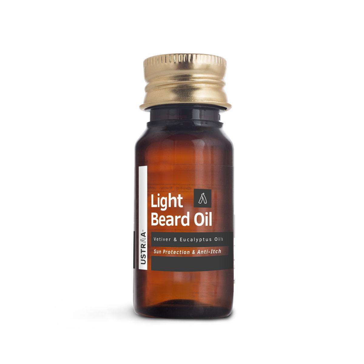 Ustraa Light Beard Oil for Men 35ml - Non Sticky and Quick Absorbing Formulation