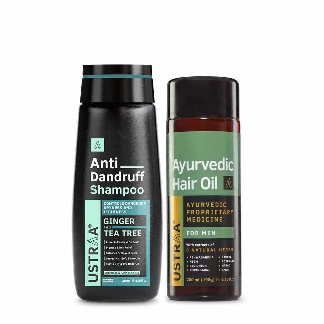 Ayurvedic Hair Oil & Anti Dandruff Hair Shampoo
