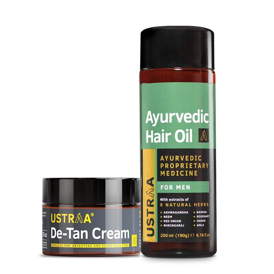 Ayurvedic Hair Oil & De-Tan Cream