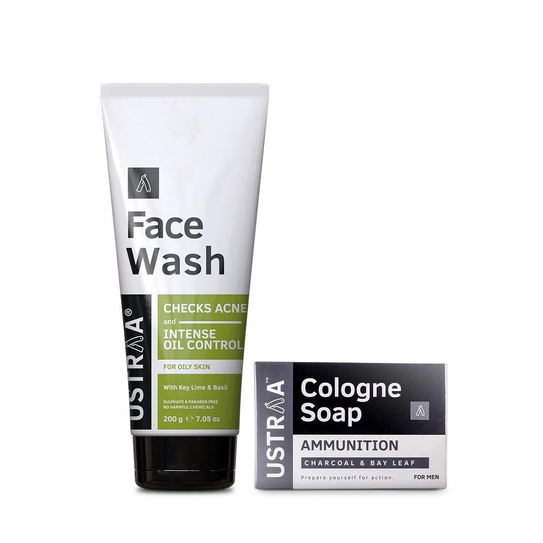 Face Wash - Oily Skin & Cologne Soap - Ammunition