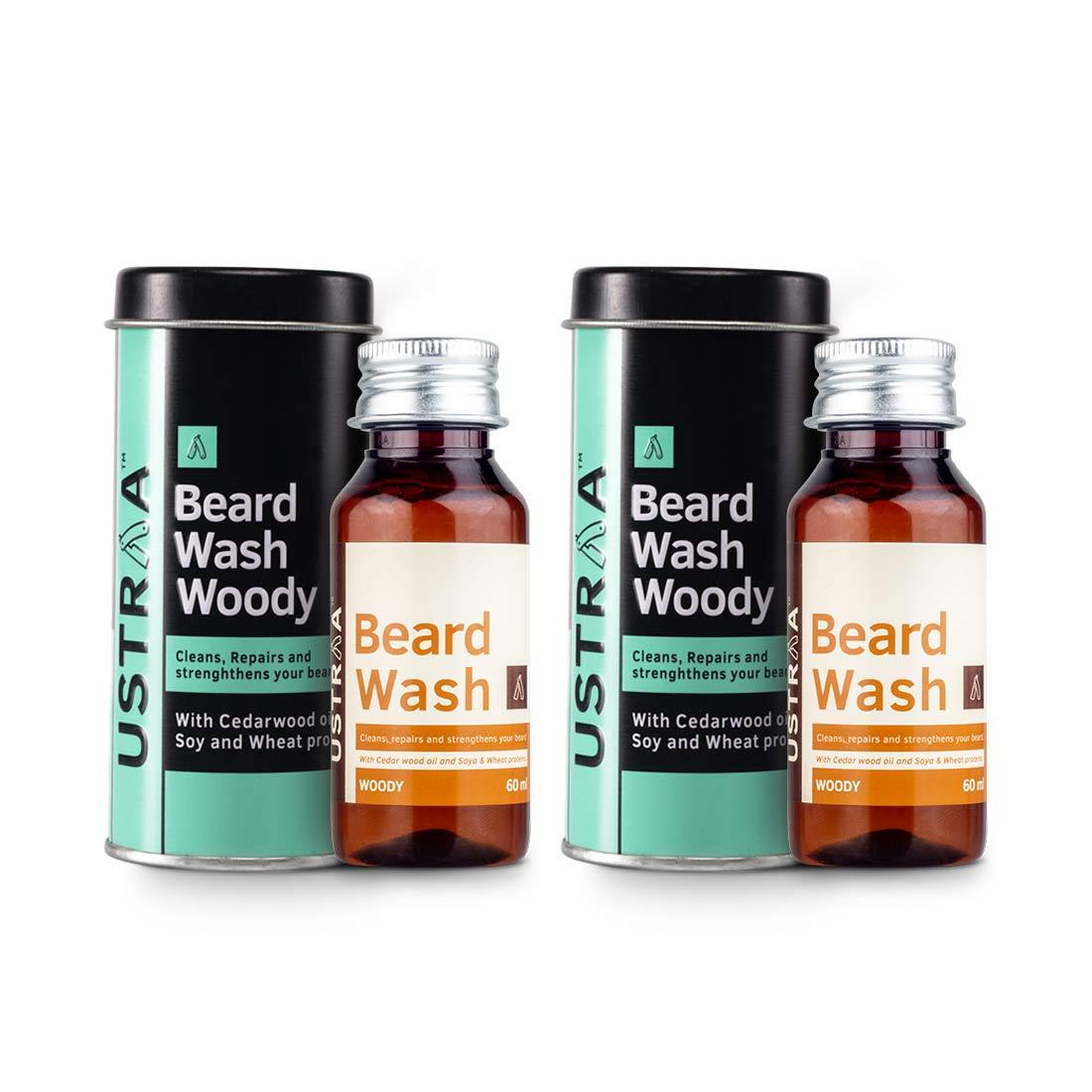 Ustraa Premium Beard Wash Combo (Woody): Your Beard's New Best Friend