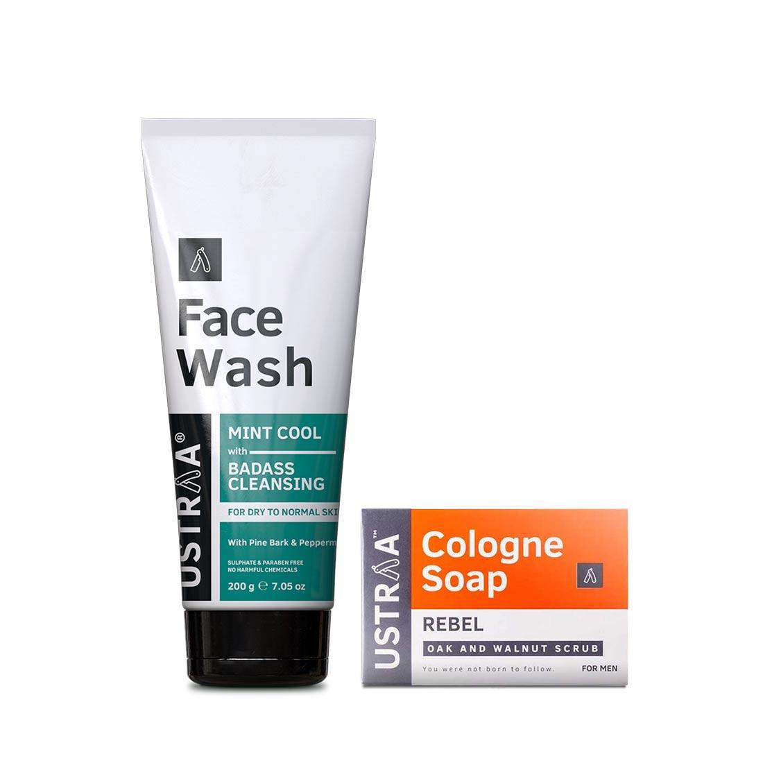 Face Wash - Dry Skin & Cologne Soap - Rebel