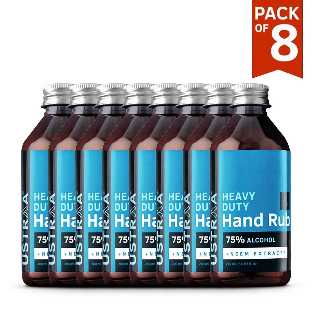 Heavy Duty Hand Rub (Sanitizer) - 200 ml - Set of 8