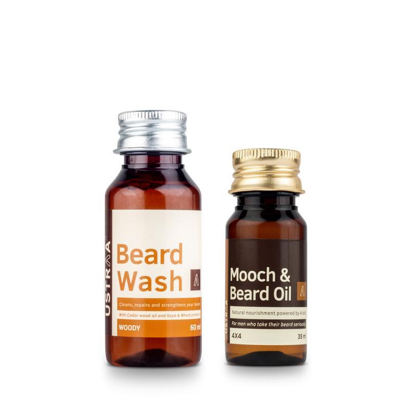 Beard Oil 4x4 & Beard Wash (Woody)