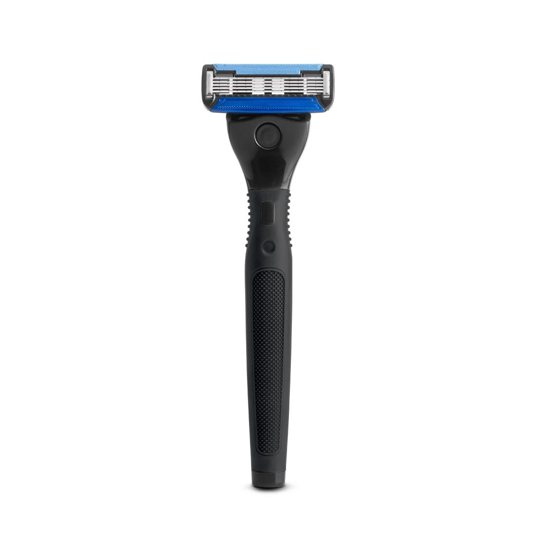 Ustraa GEAR 5 - Black Double Coated 5 Blade Razor for Men for Close Shave with Precision Blade for Shaping