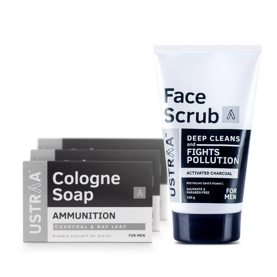 Activated Charcoal Face Scrub & Cologne Soap Ammunition