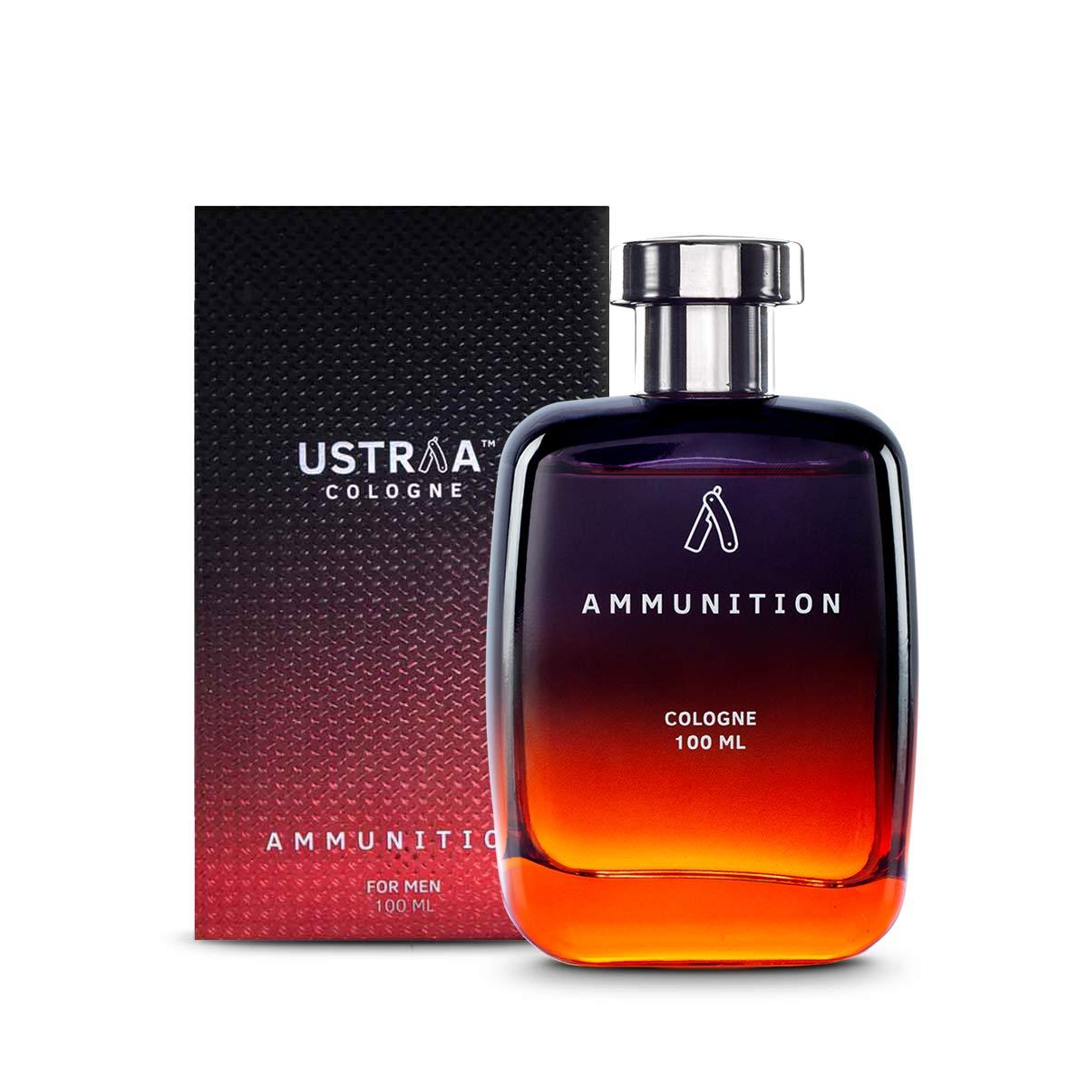 Ustraa Ammunition Cologne - Deep, Mysterious and Intense Fragrance - No Gas - Perfume for Men - 100 ml