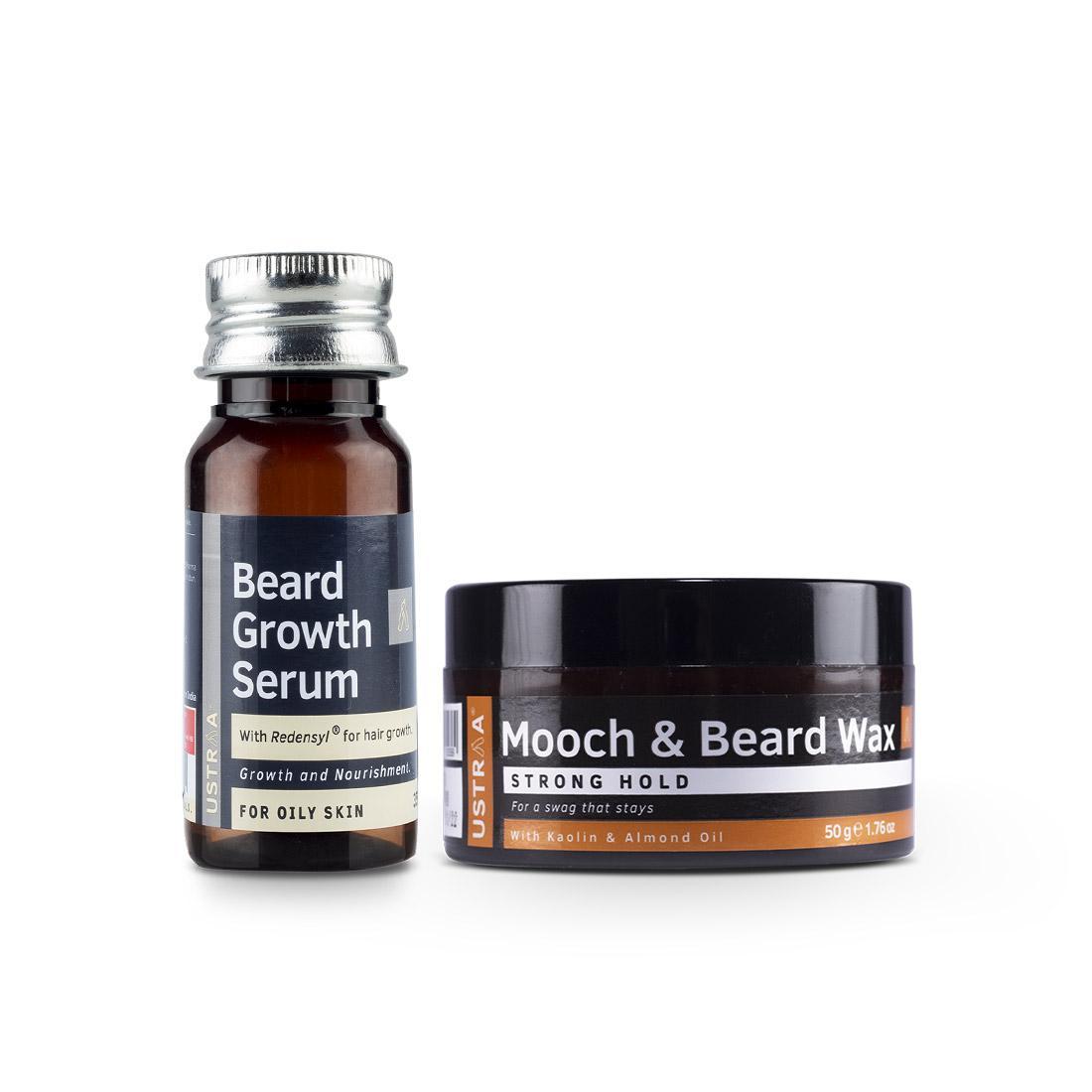 Beard Growth Serum and Beard and Mooch Styling Wax
