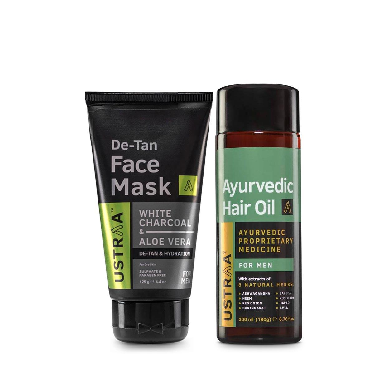 Ayurvedic Hair Oil & Face Mask- Dry Skin