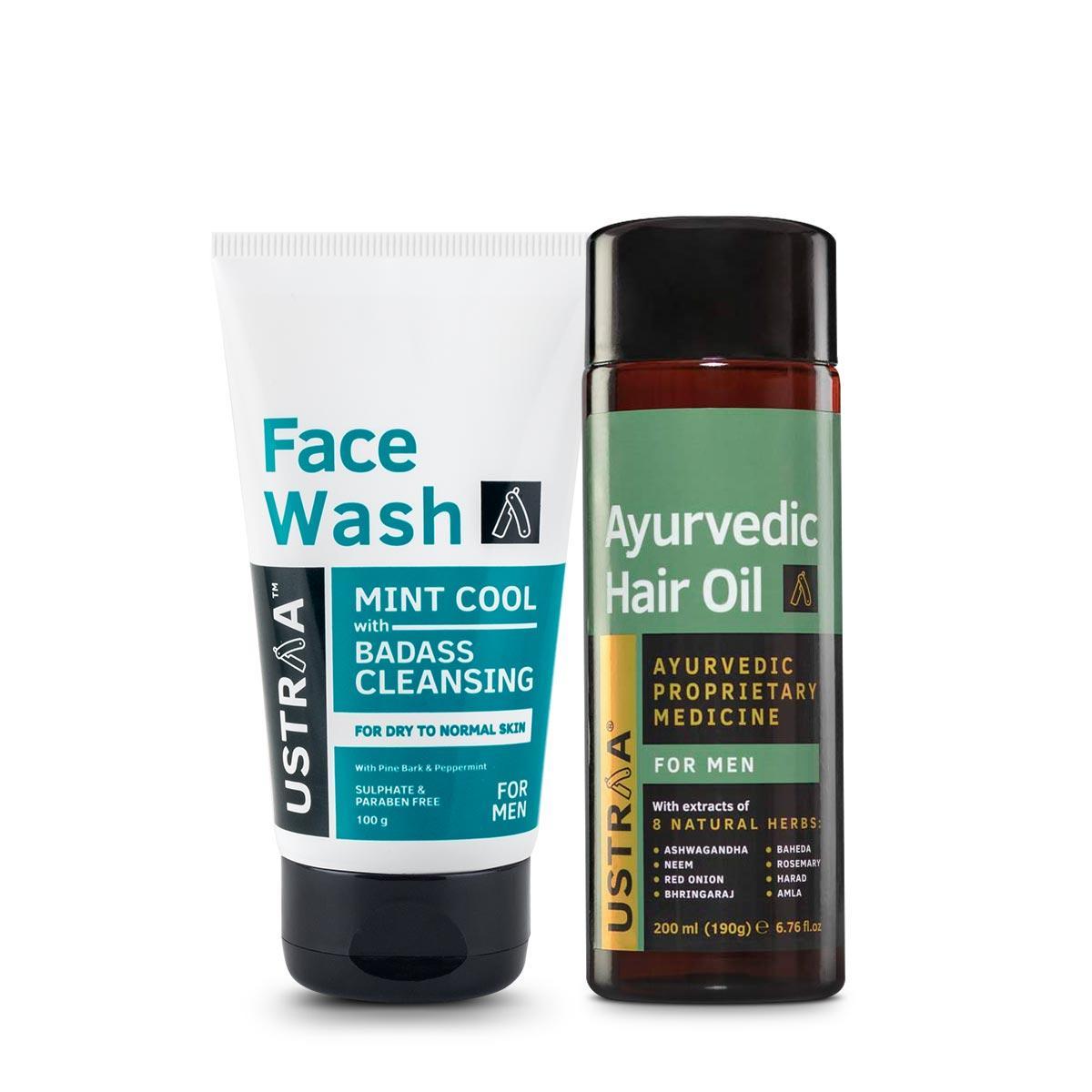 Ayurvedic Hair Oil & Face Wash - Dry Skin