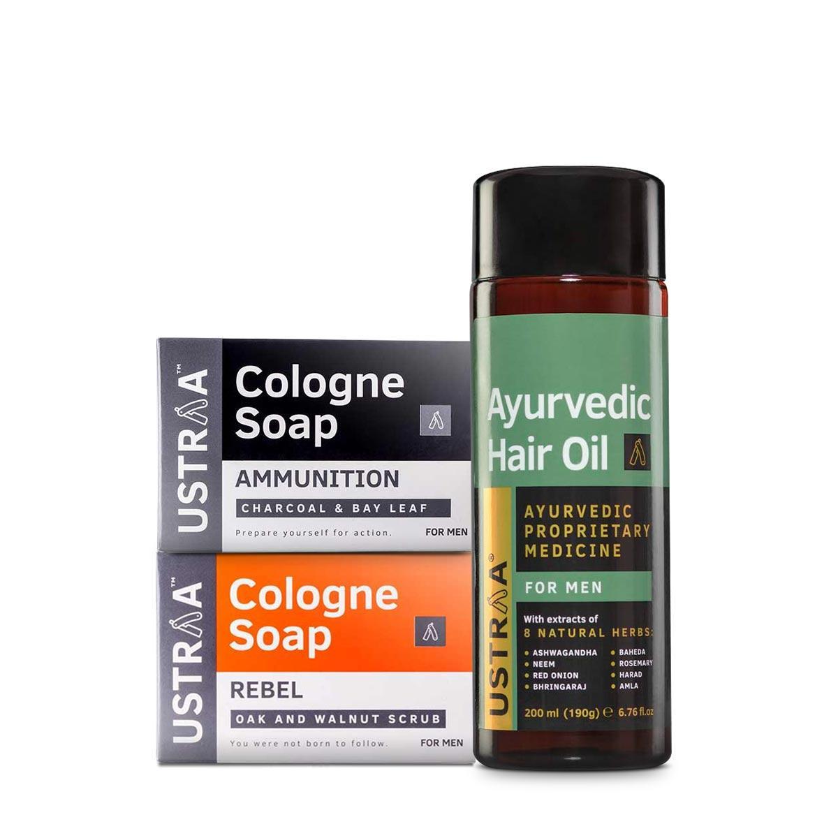Ayurvedic Hair Oil & Cologne Soaps- Rebel & Ammunition
