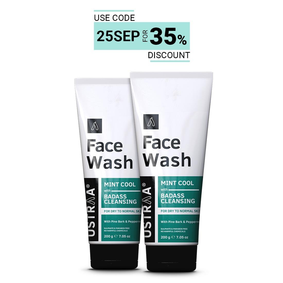 Face Wash - Dry Skin (Mint Cool) - Set of 2