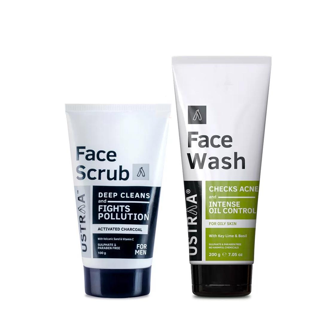 Activated Charcoal Face Scrub & Face Wash for Oily Skin