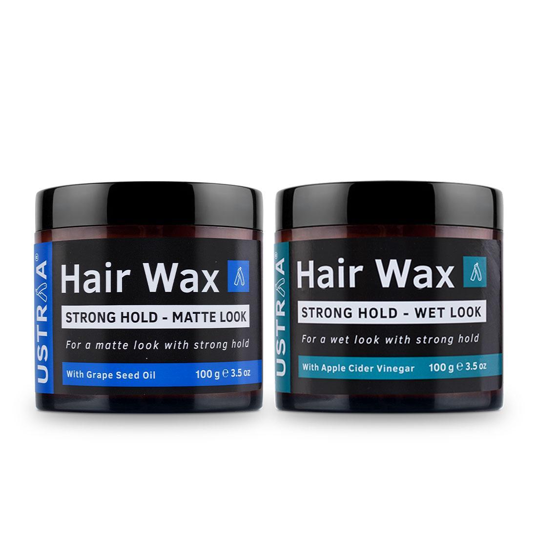 Ustraa Hair Wax Combo For Men: Wet Look + Matte Look (Set of 2)