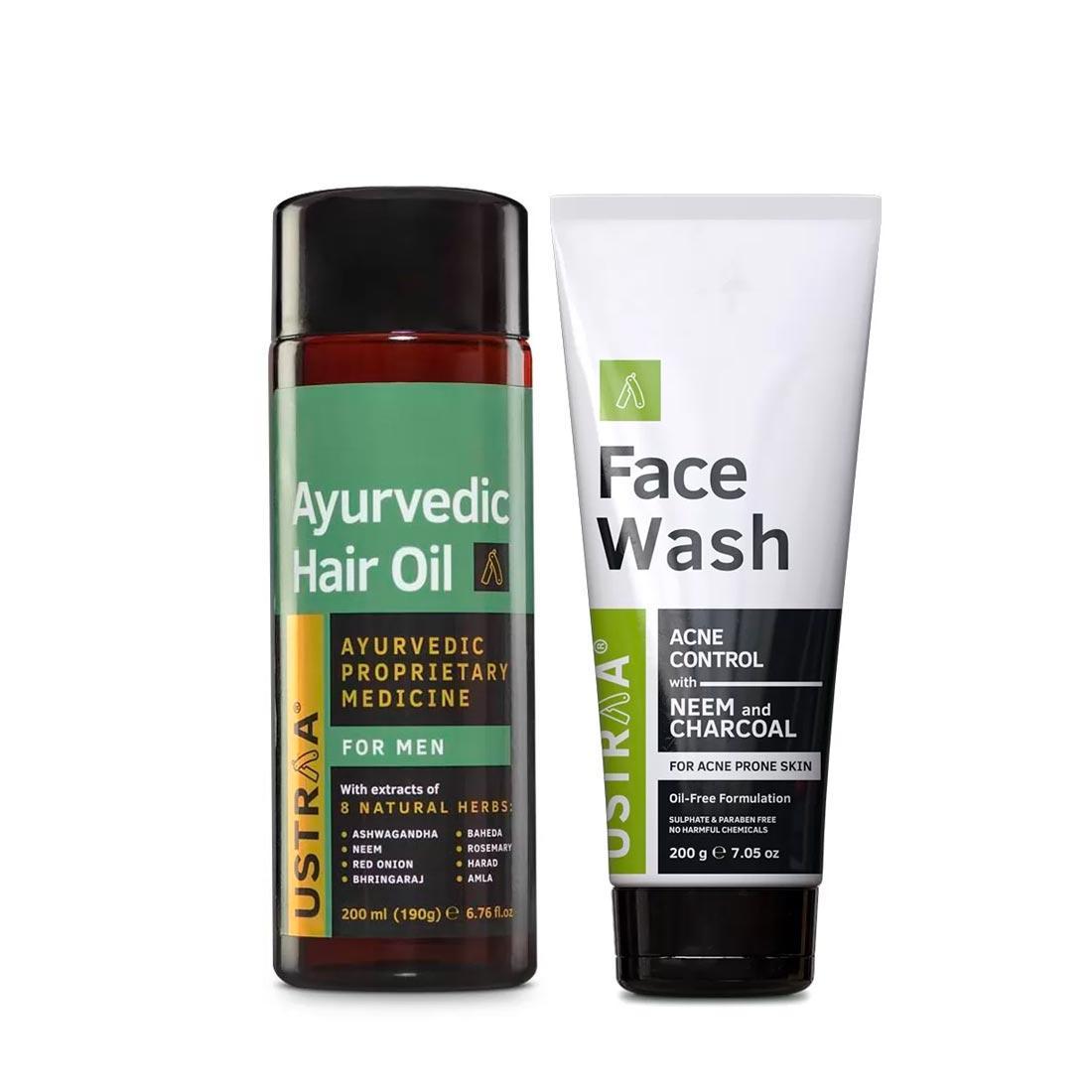Ayurvedic Hair Oil & Face Wash Acne Control