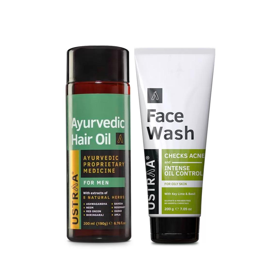 Ayurvedic Hair Oil & Face Wash - Oily Skin