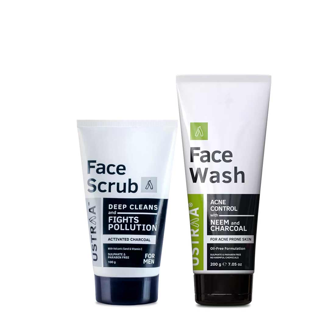 Face Wash Acne Control and Face Scrub Activated Charcoal