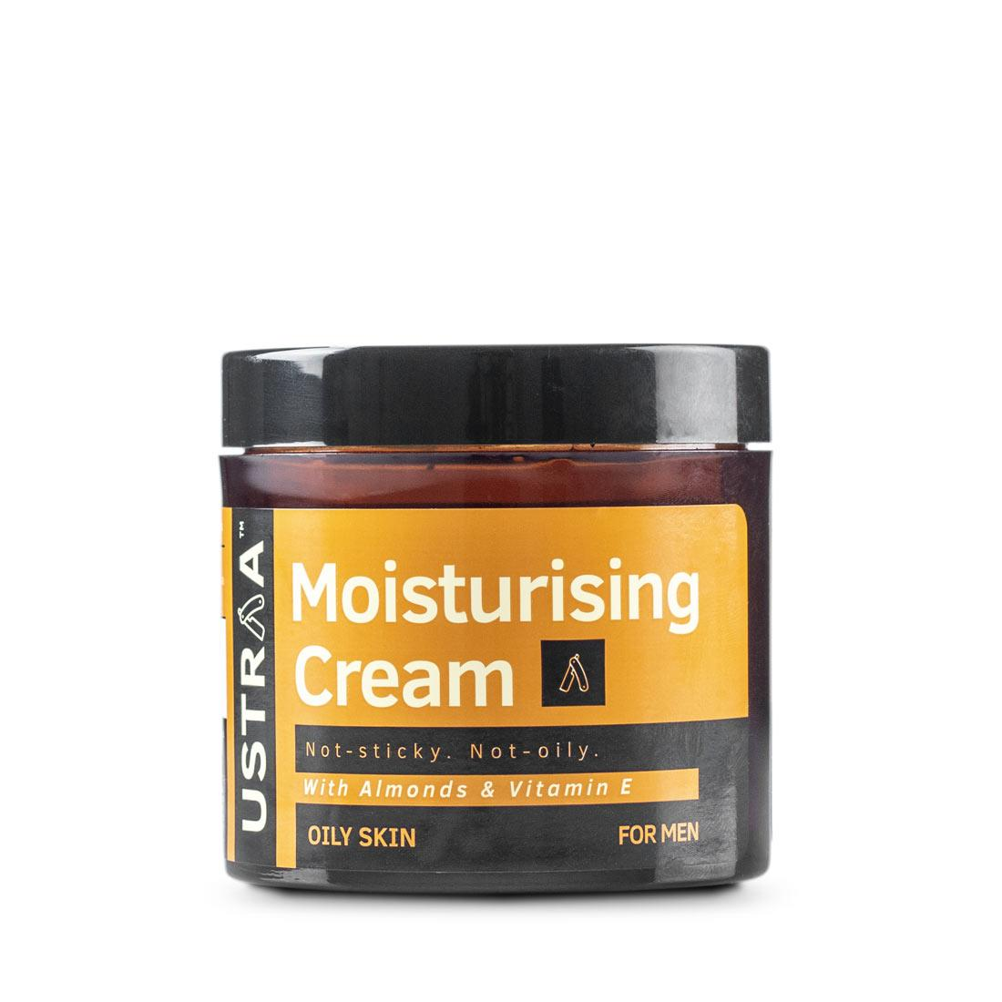 Ustraa Moisturising Cream for Oily Skin with Shea Butter and Olive Oil - Keeps Skin Healthy and Moisturized Without the Stickiness- 100g
