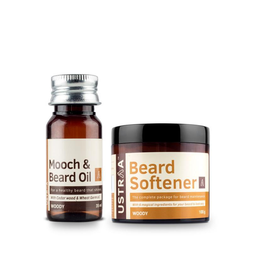 Beard Oil (Woody) & Beard Softener