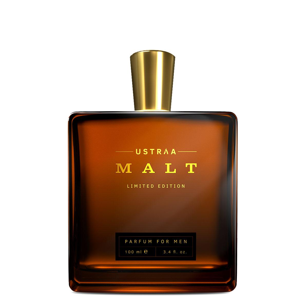 Ustraa Malt Perfume for Men - 100 ml - A Blend of Select High End Fragrances with Warm and Sweet Top Notes
