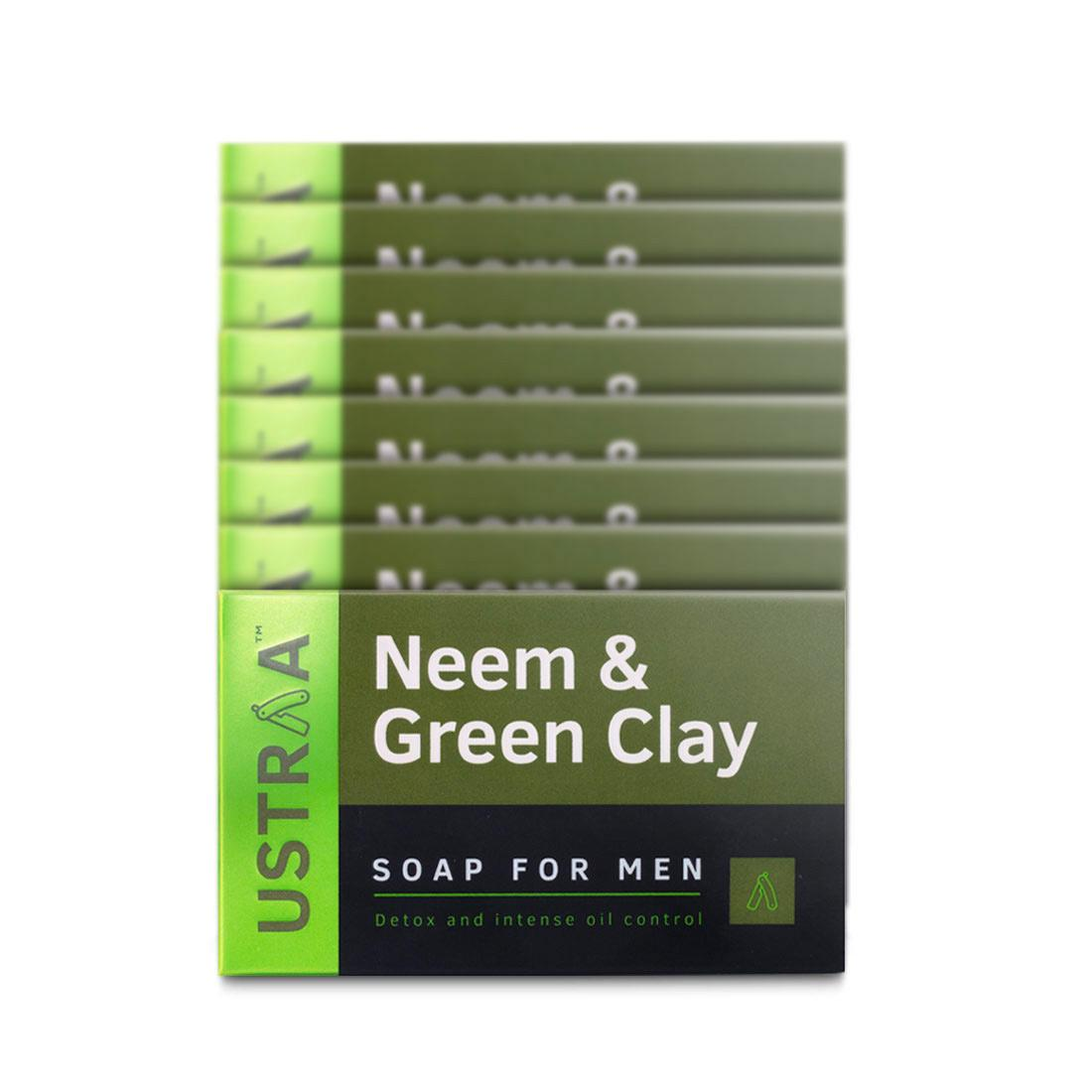 Neem & Green Clay Soap, 100 g (Pack of 8)