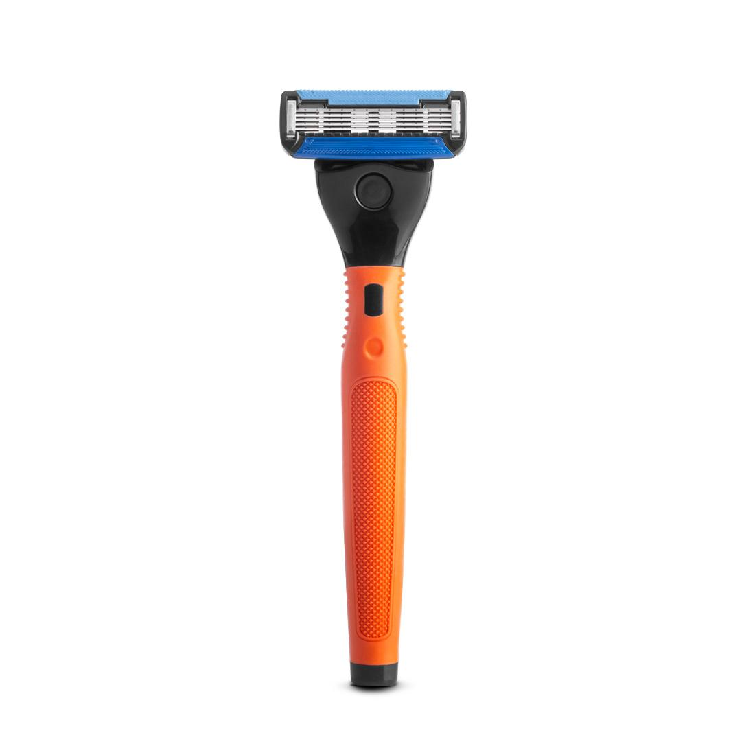 Ustraa GEAR 5 - Orange Double Coated 5 Blade Razor for Men for Close Shave with Precision Blade for Shaping
