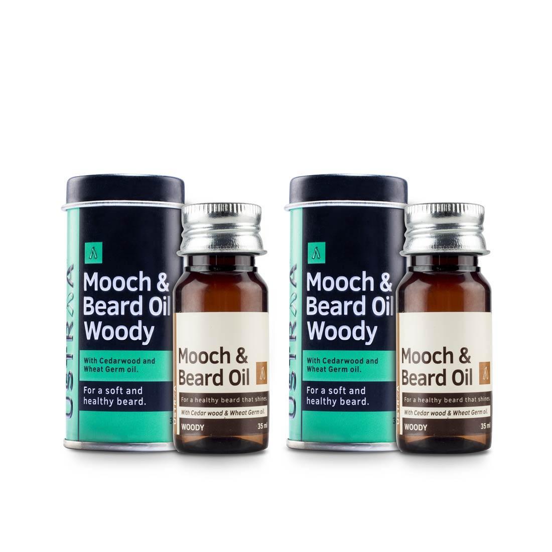 Beard & Mooch Oil (Woody) - Set of 2