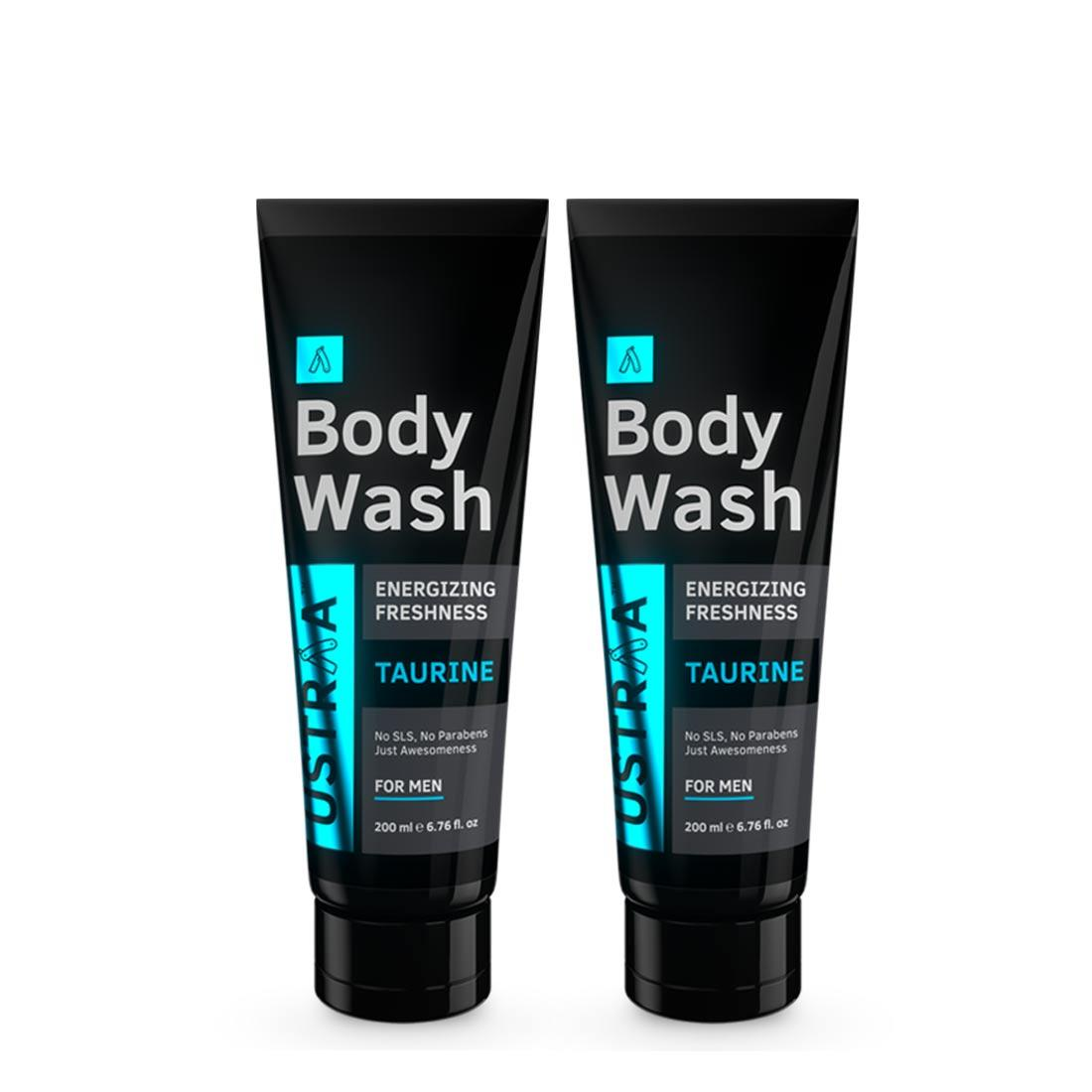 Ustraa Body Wash for Men: With Taurine for Energizing showers and Skin Damage Repair